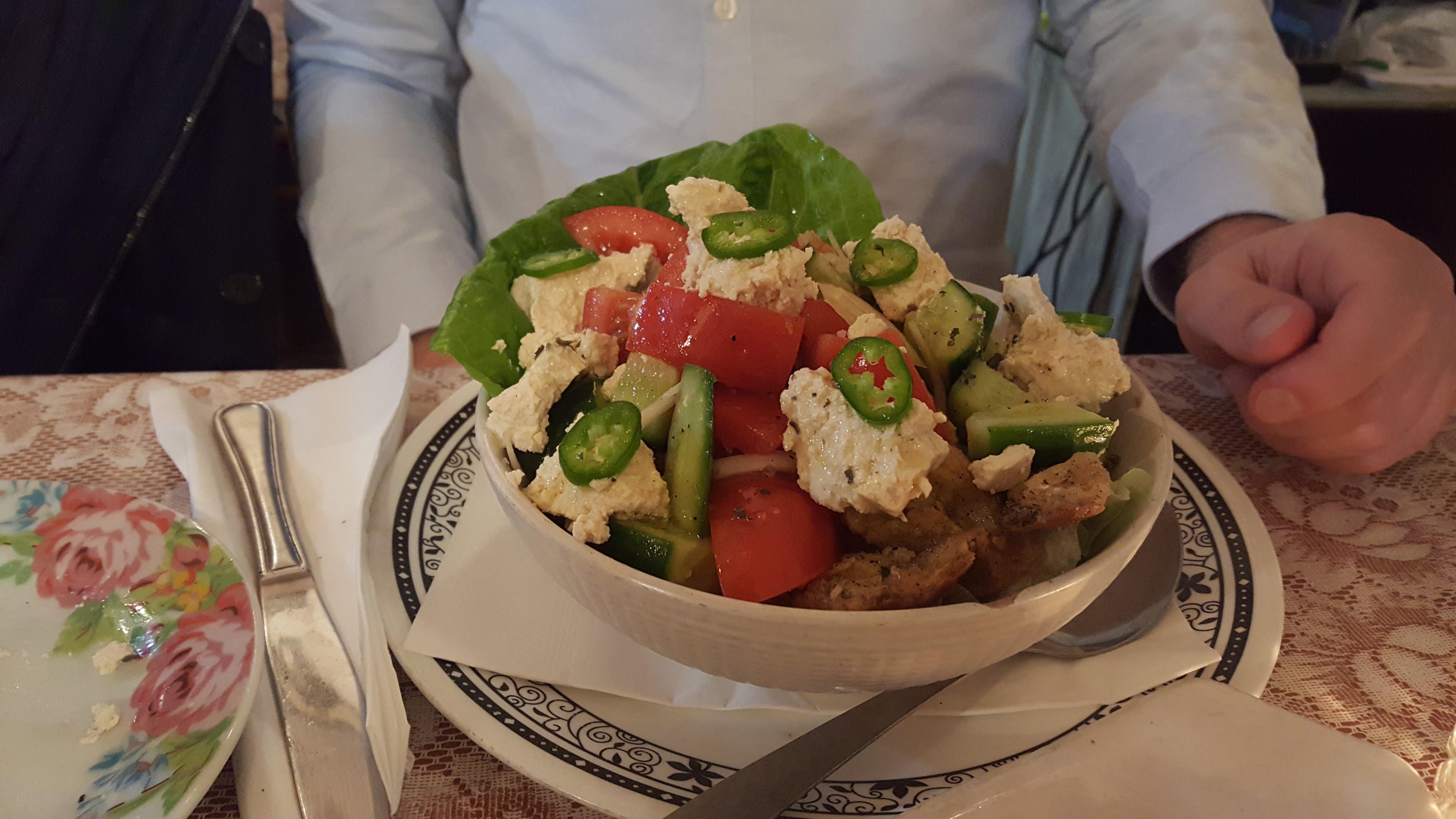 Griechischer Salat, Zakaim, Tel Aviv