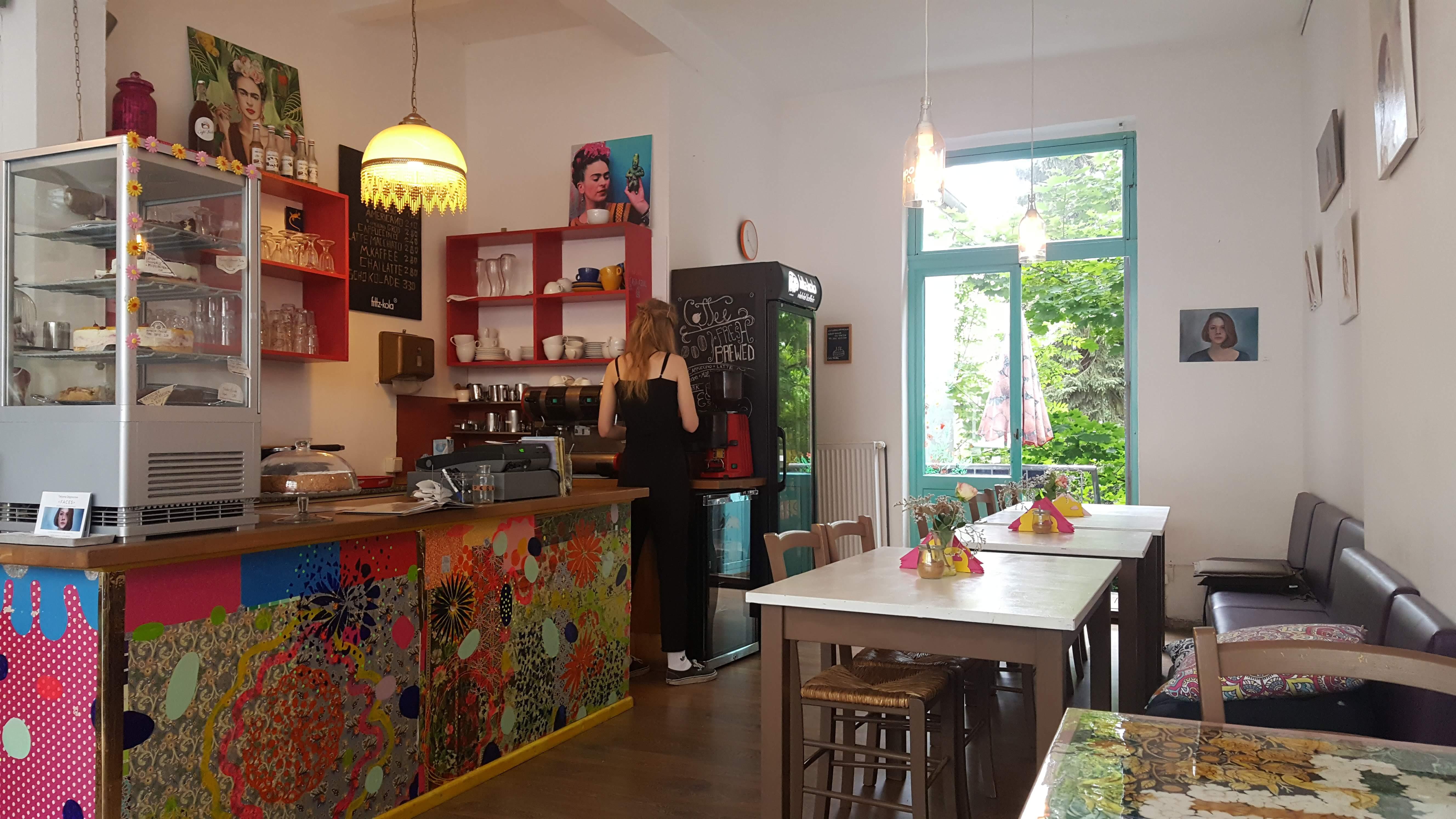 Innenansicht, Cafe Frida, Bremen