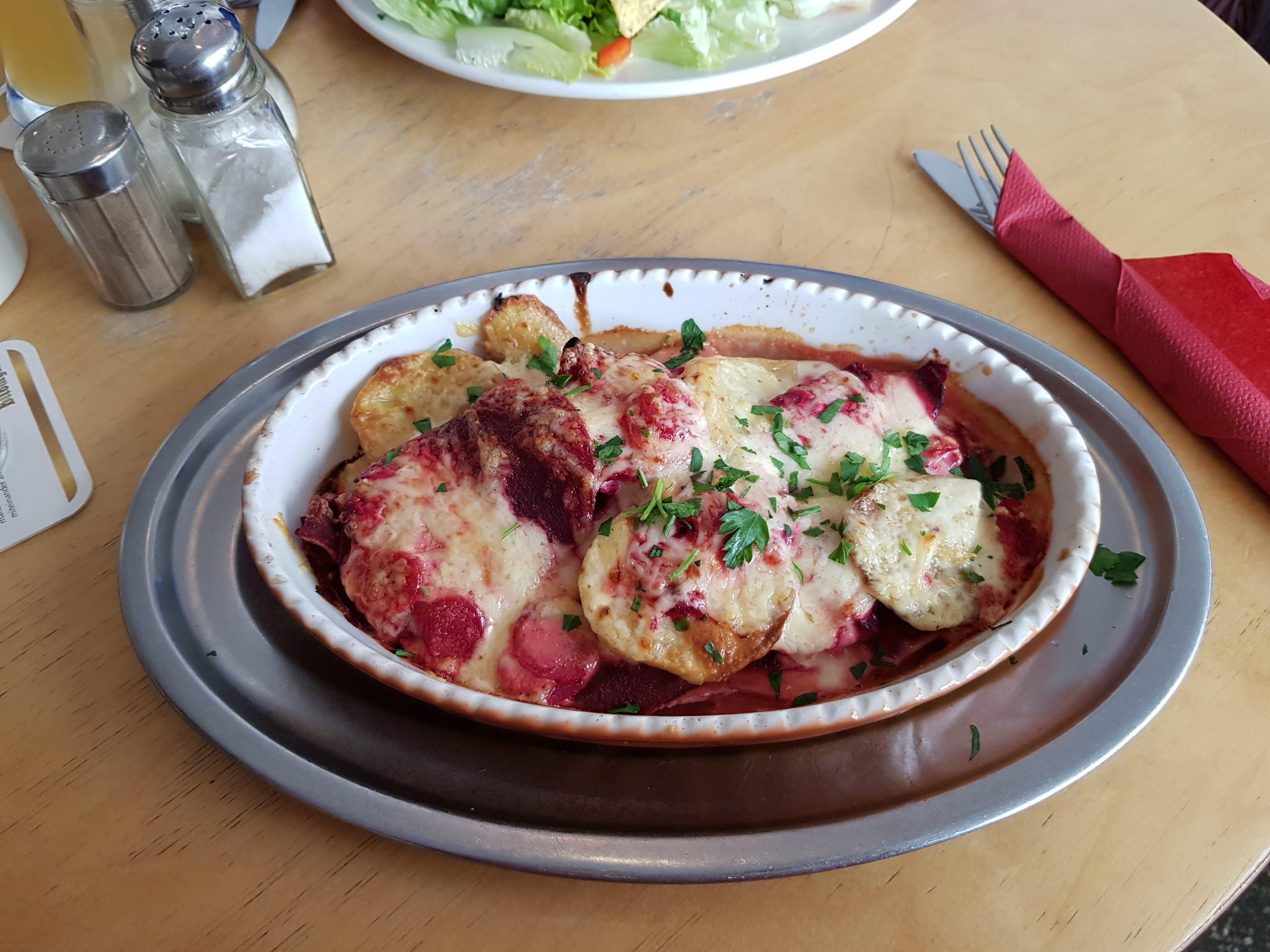 Kartoffel-Rote Beete-Gratin, Prütt, Münster