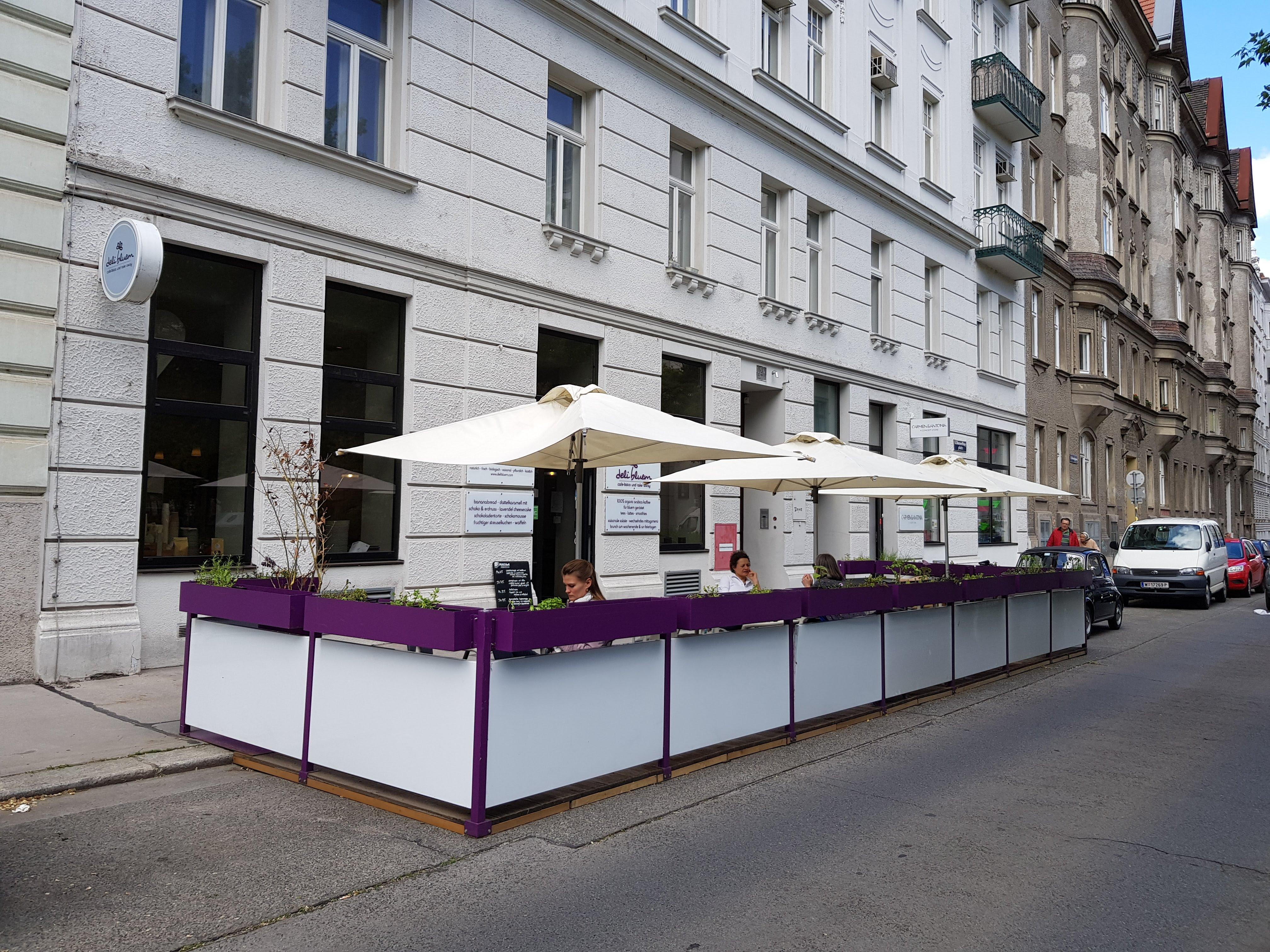 Außenansicht, deli bluem, Wien