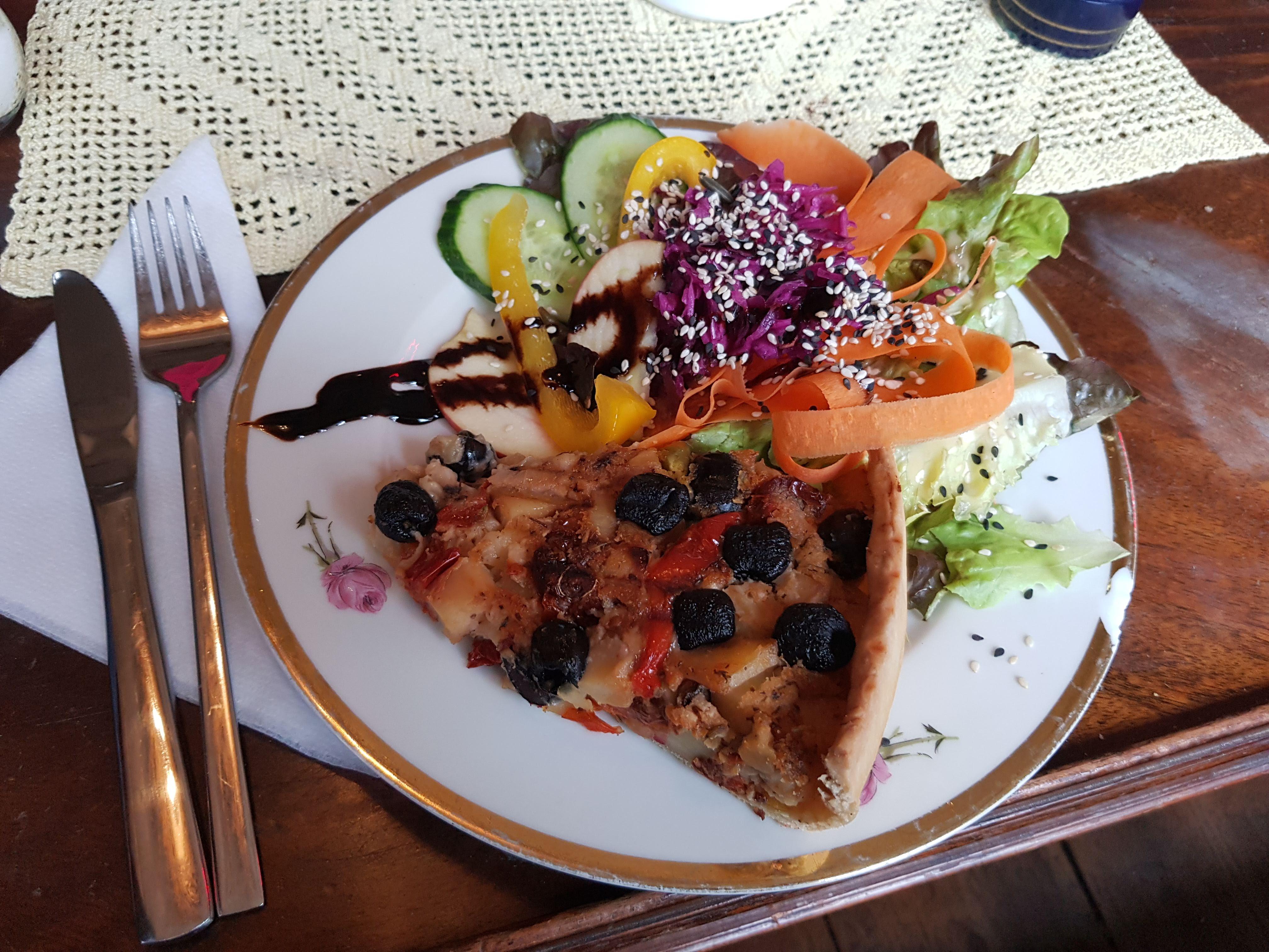 Quiche mit Salat, Nasch, Hamburg